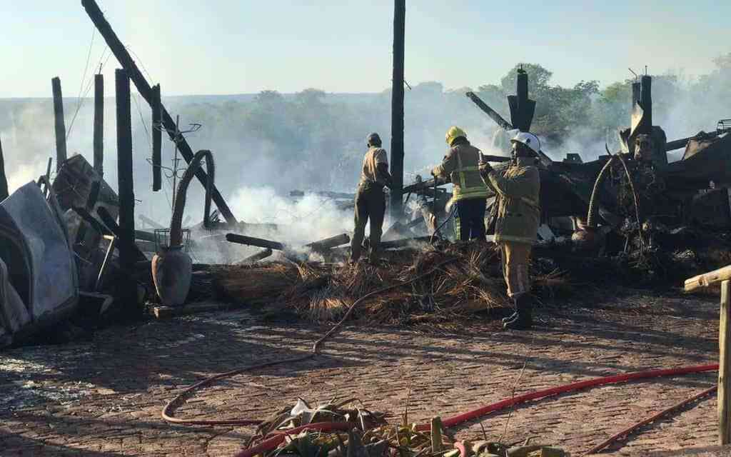 PICTURES: Fire burns to ashes Victoria Falls' Lookout Cafe