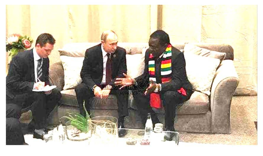 Putin proposes Russian military base in Zimbabwe…as ED begs for money