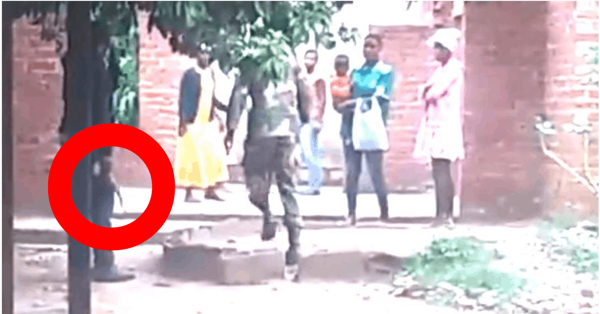 VIDEO: AK47 terrorist orders Zim soldier to abuse women in front of child