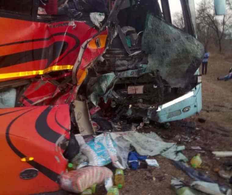 10 killed: Mandeep, Govasburg buses road accident on Kwekwe-Gweru…PICTURES