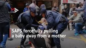 Videos of South African police snatching babies from mothers in Cape Town
