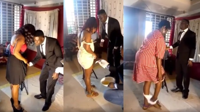 VIDEO: Ghana Pastor removes women underwears, shaves their privates in church