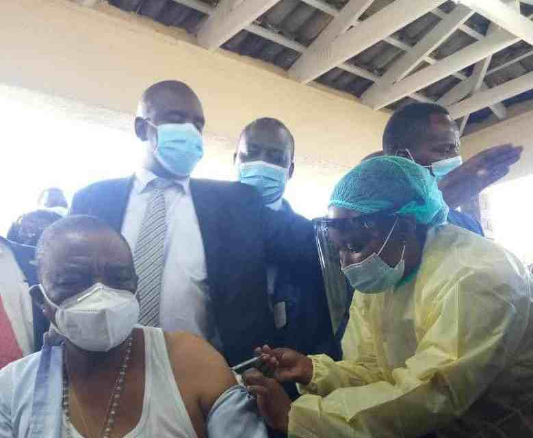 Zim VP Chiwenga gets Sinopharm  Covid vaccine..BREAKING News…PICTURES