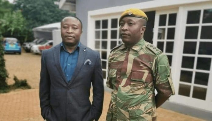 Mnangagwa's twin sons, Presidential Guard Soldier Sean in Zimbabwe National Army Uniform..PICTURES