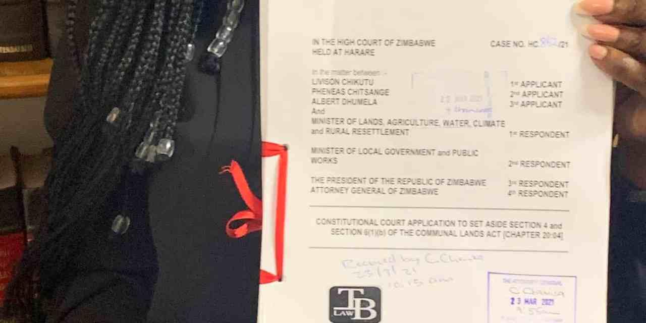 Biti files court application challenging Communal Land Act