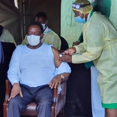 BREAKING: President Mnangagwa vaccinated against COVID-19
