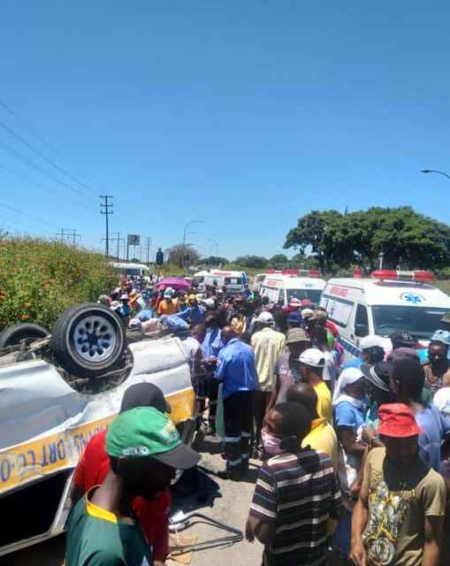 Omnibus overturns, one critically injured…PICTURES…