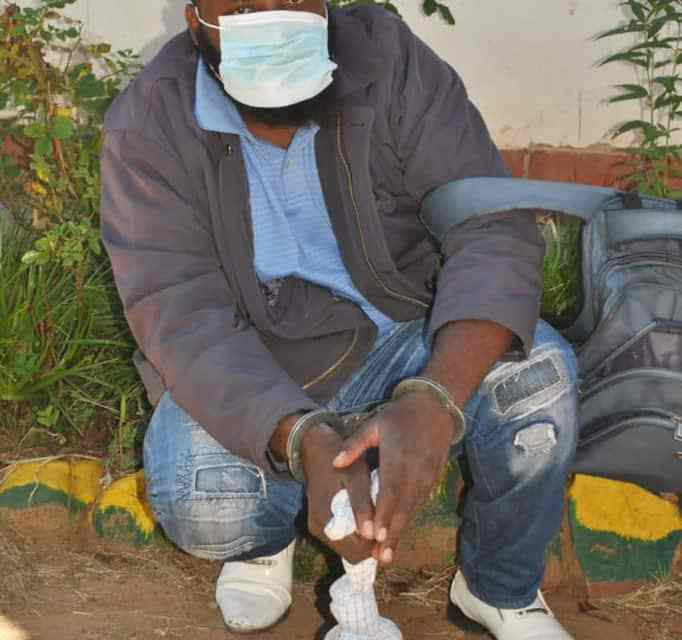 Madzibaba nabbed by CID officers for possessing a Cobra