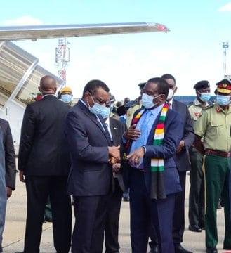 President Mnangagwa leaves for Uganda to attend Yoweri Museveni's swearing in