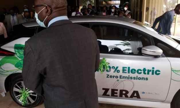 Electric car a hit at the 2021 Zimbabwe International Trade Fair (ZITF)