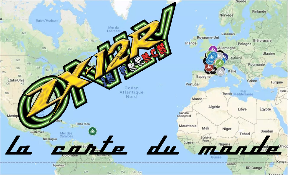 Carte du monde ZX12R Francophone _ ZX12R in French ONLY