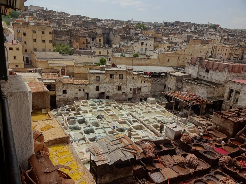 Garbarnia Chouwara Fez Maroko