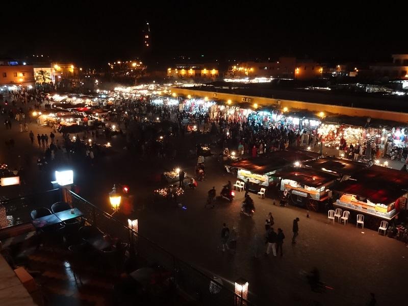 Marrakesh Targ nocą