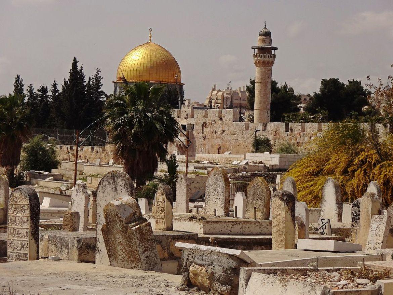 Widok z Cmentarza Yeusefiya przy Lwiej bramie