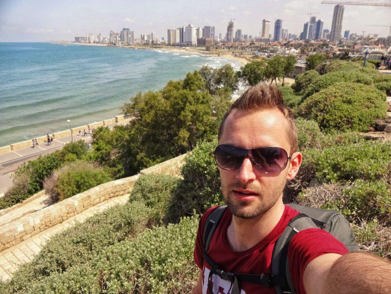 Panorama plaży Tel awiw Izrael