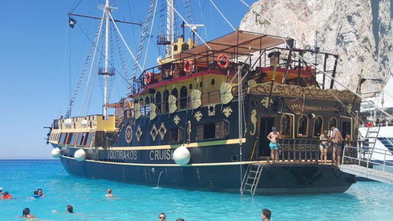 Cumowanie przy Zatoce wraku / Zakynthos