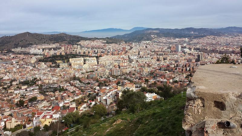 Panorama z Bunkers del Carmel Barcelona