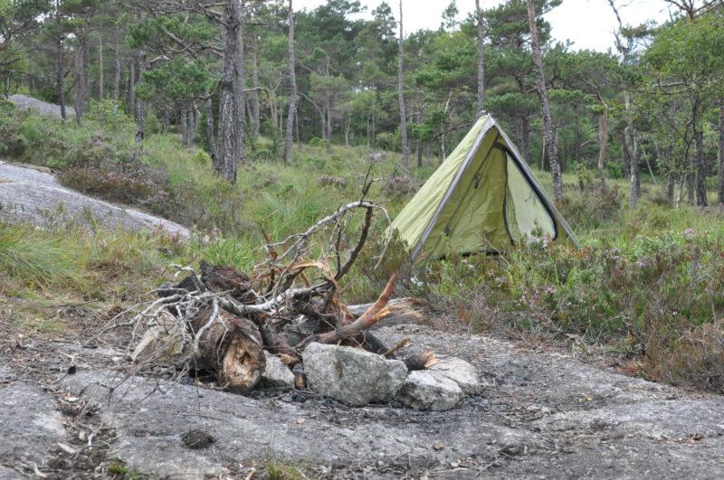 Spanie pod namiotem Norwegia Fiordy