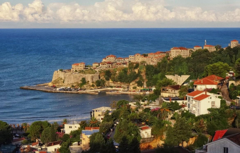 Ulcinj Panorama miasta czarnogóra Zatoka Stare miasto