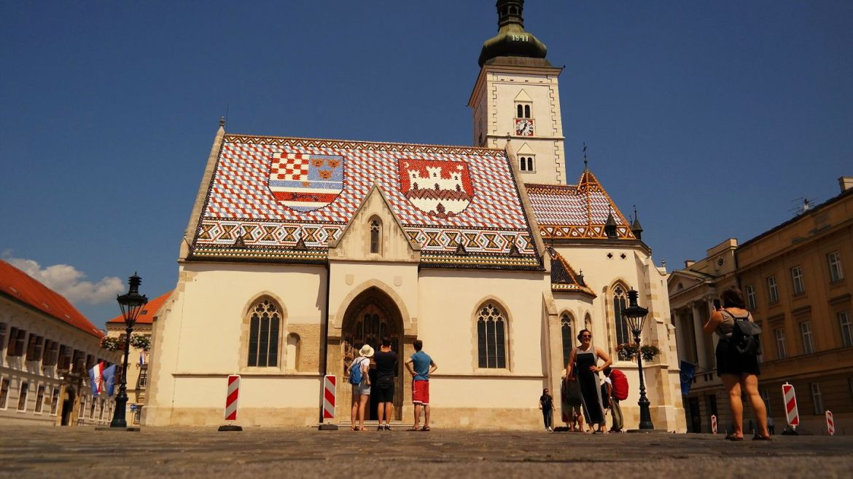 Zagrzeb kościół św. Marka Chorwacja co zwiedzić w chorwacji zwiedzanie zagrzebia