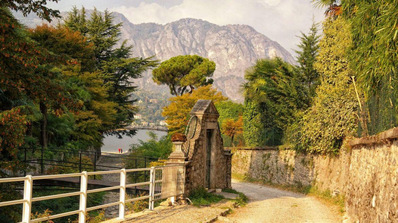 Bellagio Jesień włochy jezioro Como