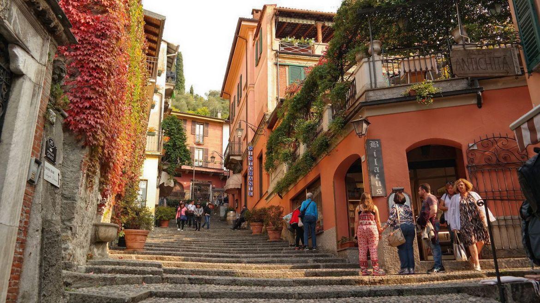 Bellagio Sklepy Uliczki Włochy