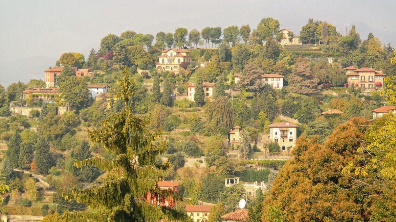 Bergamo panorama stare miasto