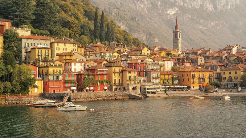 Varenna Panorama Włochy