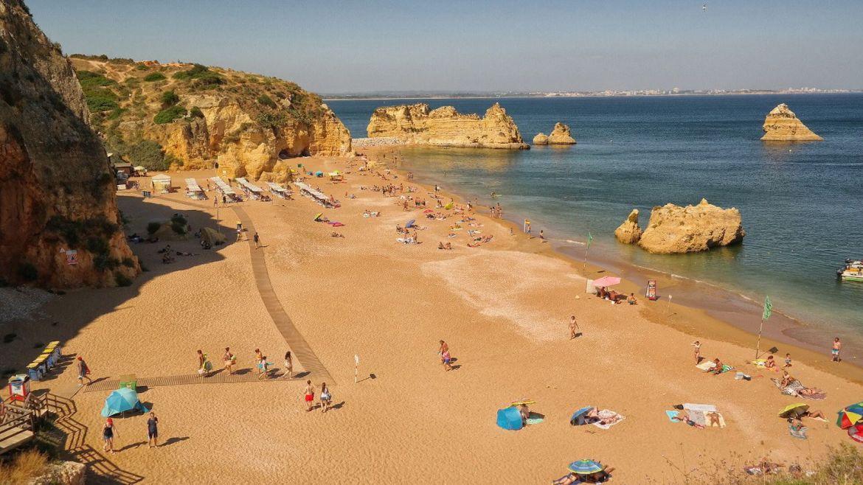 Praia Dona Ana Lagos Algarve Zachodnie Portugalia