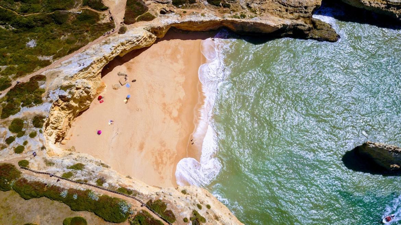 plaża Carvoeiro Algarve Portugalia