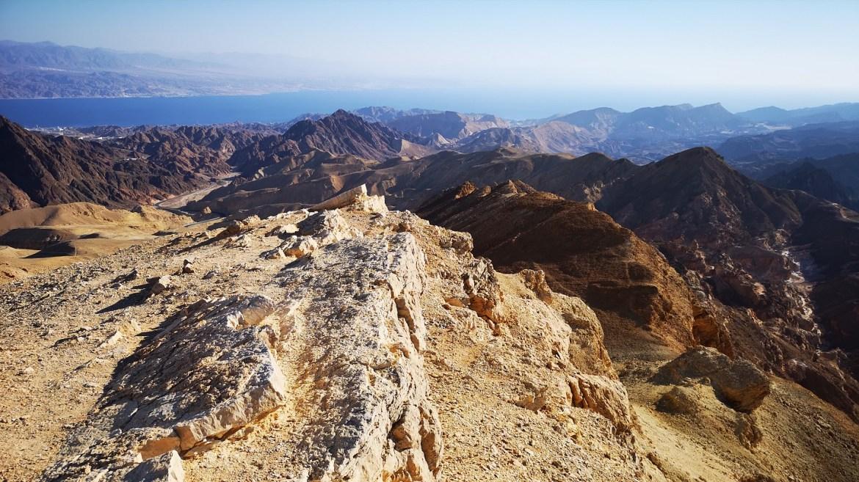 Panorama eilatu izrael pustynia negev góry