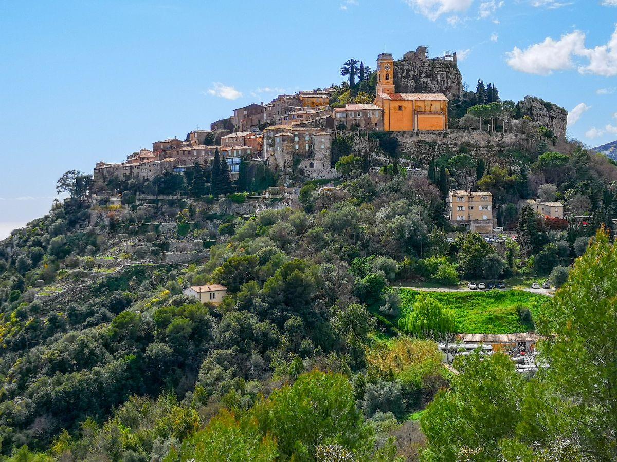 eze village lazurowe wybrzeże co zwiedzić panorama górne miasto wioska