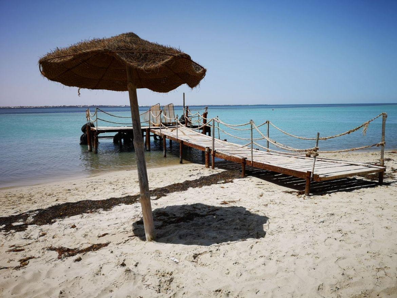 Flamingo Island molo parasol plaża
