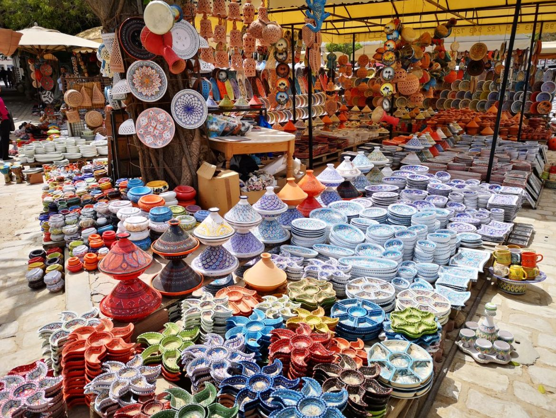Houmt Suk stolica Djerba Tunezja bazar