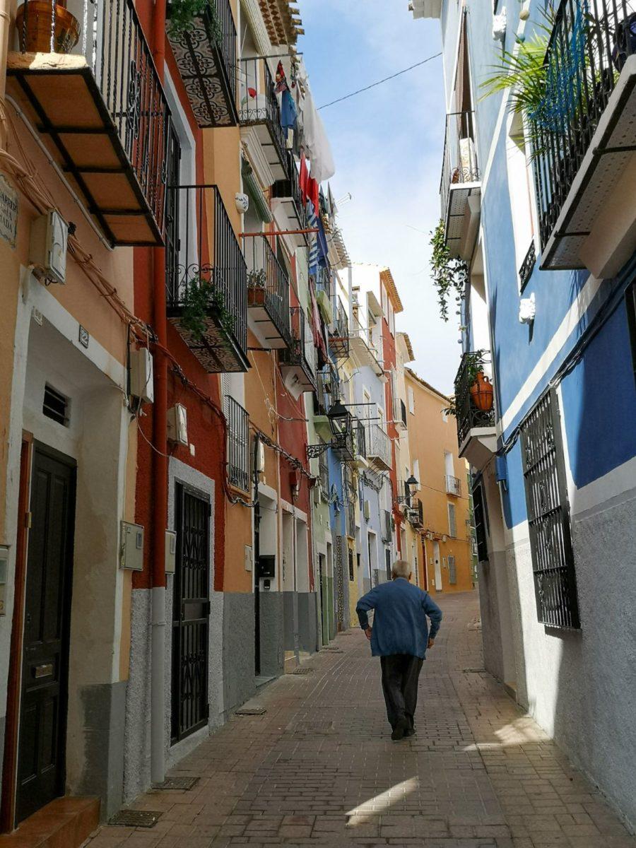 Villajoyosa costa blanca hiszpania uliczki