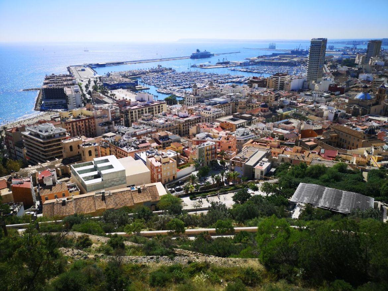 katania panorama z Castillo de Santa Bárbara zamek świętej barbary katania co zwiedzić