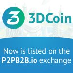 3DCoin is now listed on the p2pb2b exchange