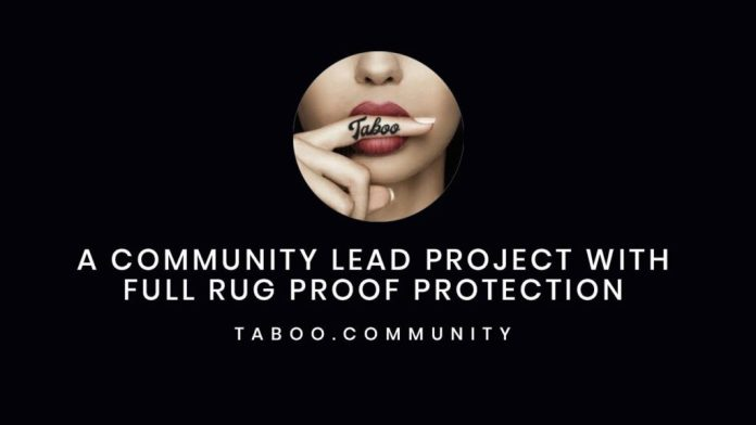 Community Driven Project, Taboo Launches Deflationary Meme Token With its Own NFT Marketplace