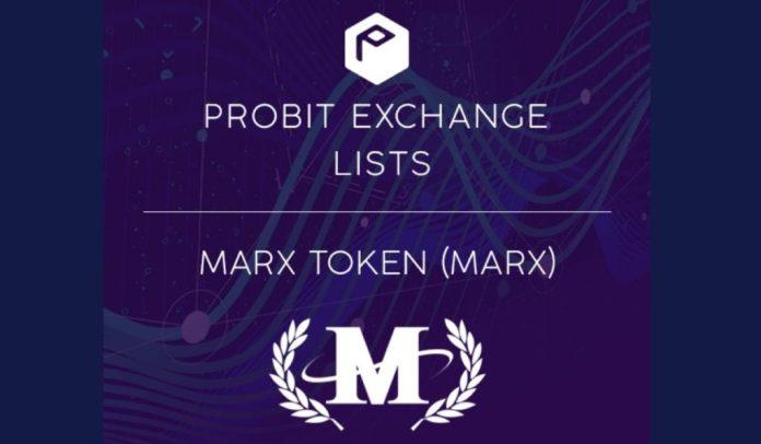 NFT Platform MarX Token (MARX) Lists on ProBit Exchange Following $700,000 IEO Campaign