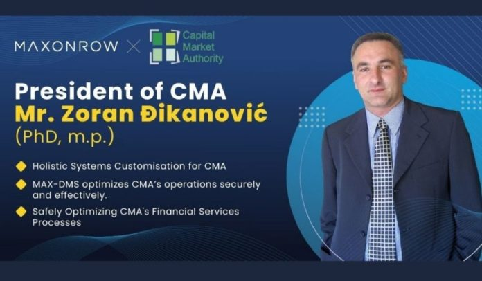 Maxonrow to Create Blockchain-based Document Management System (DMS) Through Partnership With Montenegro's Capital Market Authority