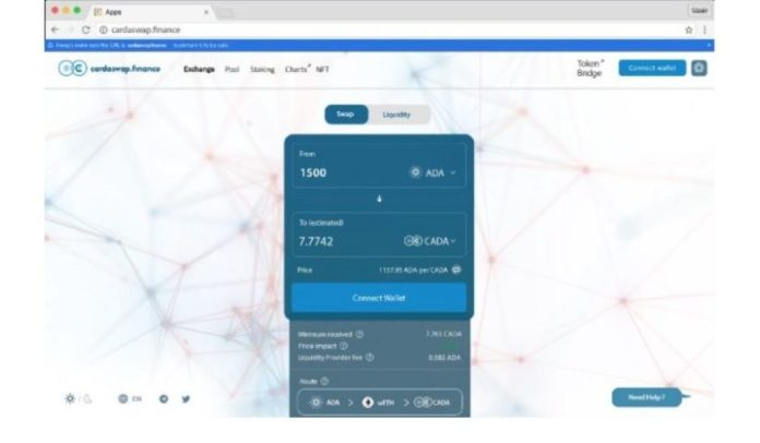 Cardaswap.finance to Become First Decentralized Exchange on the Cardano Network