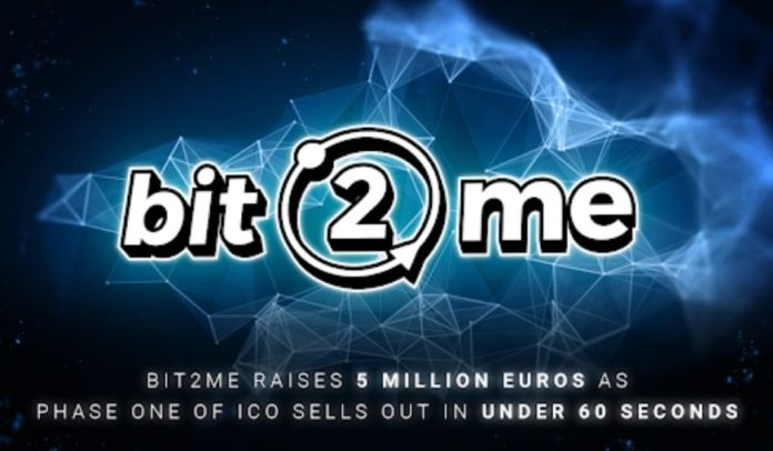 Bit2Me Raises 5M Euros In Under 60 Seconds Of The First Phase Of Its ICO