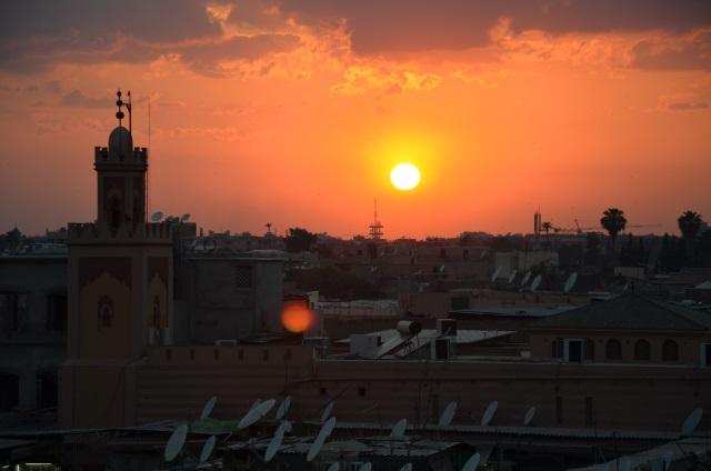 Marrakesz zachód słońca