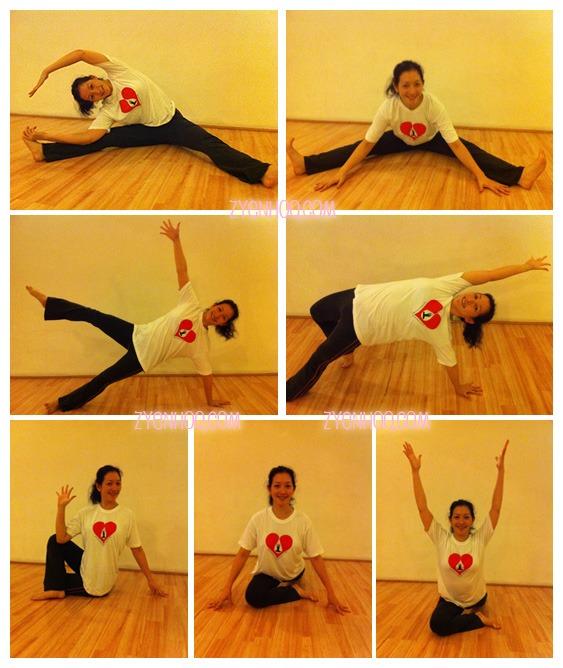 Yoga posing for Surya Yoga's Blood Donation Drive