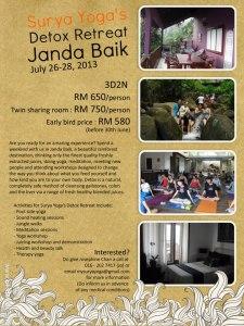 Detox retreat to Janda Baik