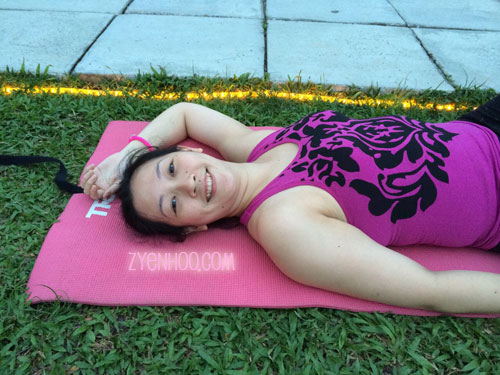 When I said lying on our mats, that was what I really meant