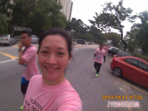 Selfie during the run. I'm testing ou t my brand new sports cam as I'm running.