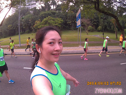 One of my many selfies during the run. Haha, there's always time for a selfie!