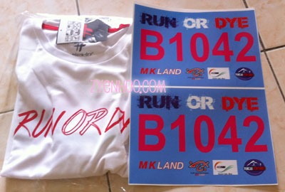 Two sticker bibs to stick on our white T-shirt