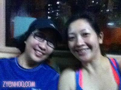 Marissa and I on the bus heading to the second Penang Bridge